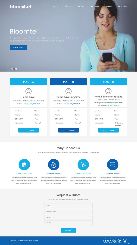 Colorful Bold Telecom Web Design For A Company By Pb Design 18173877