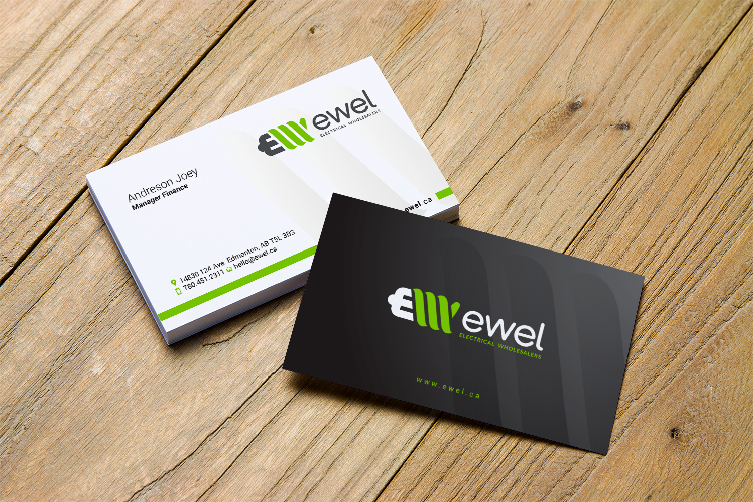 Bold Professional Business Business Card Design For Ewel By