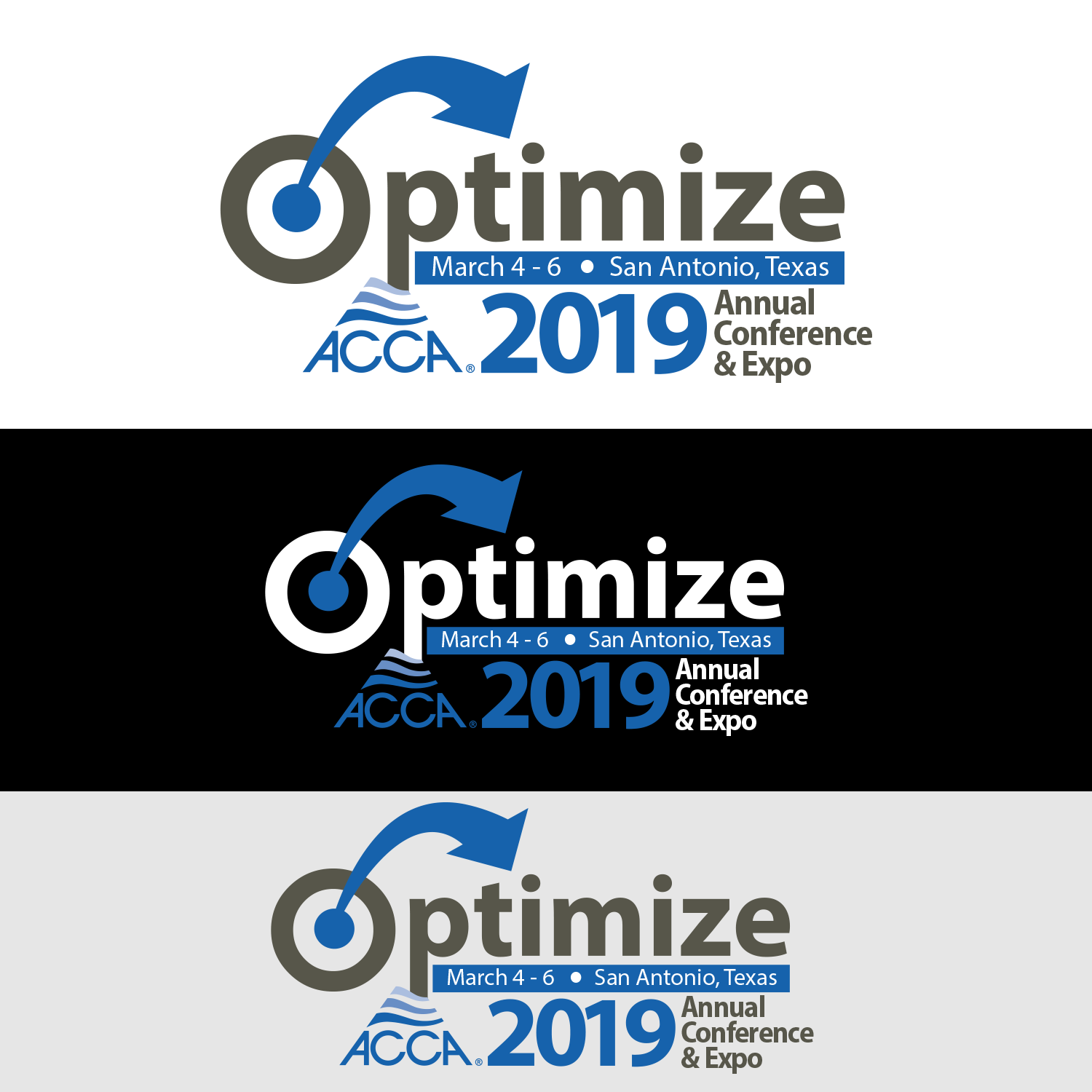 bold, professional, air conditioning logo design for optimize