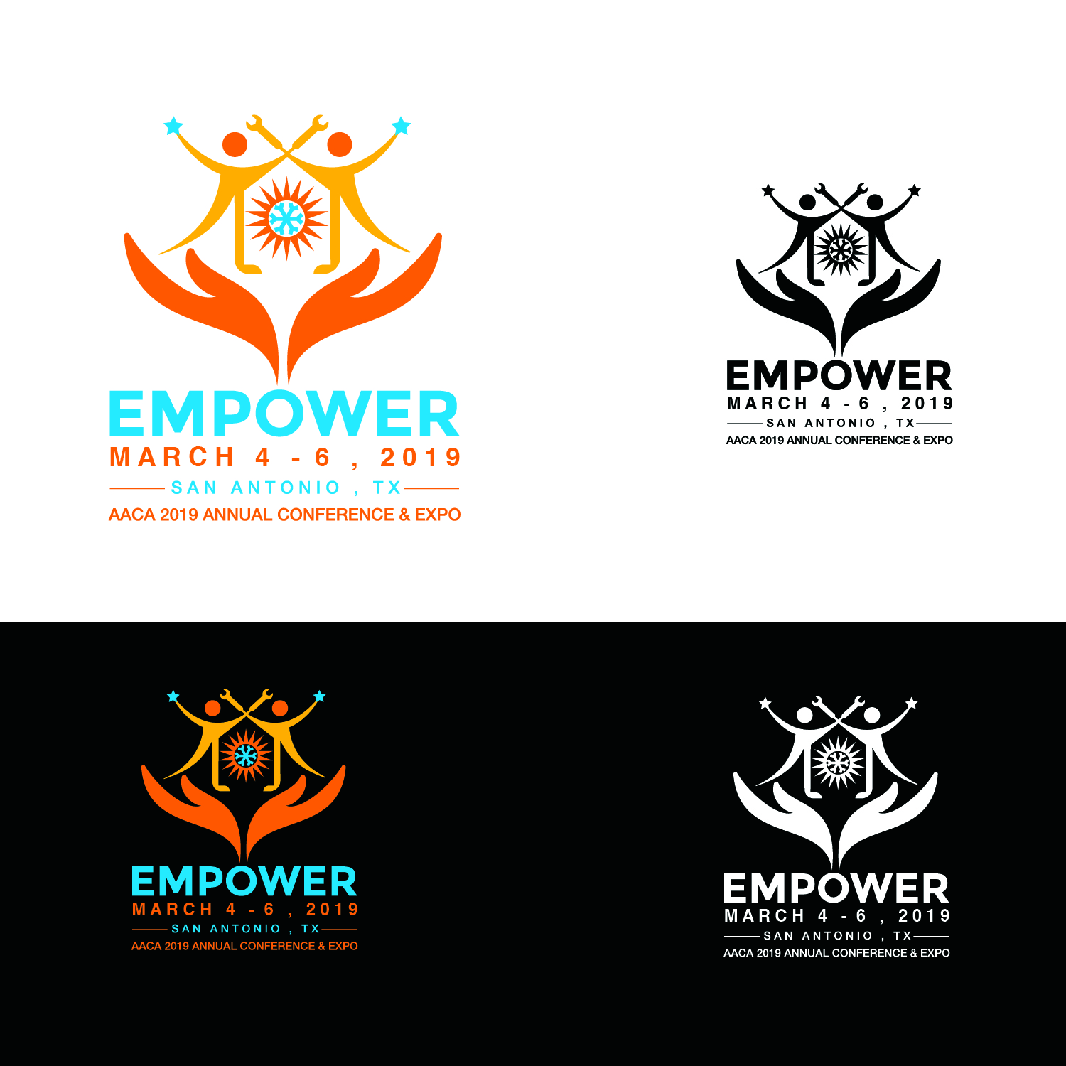 serious, professional, air conditioning logo design for empower