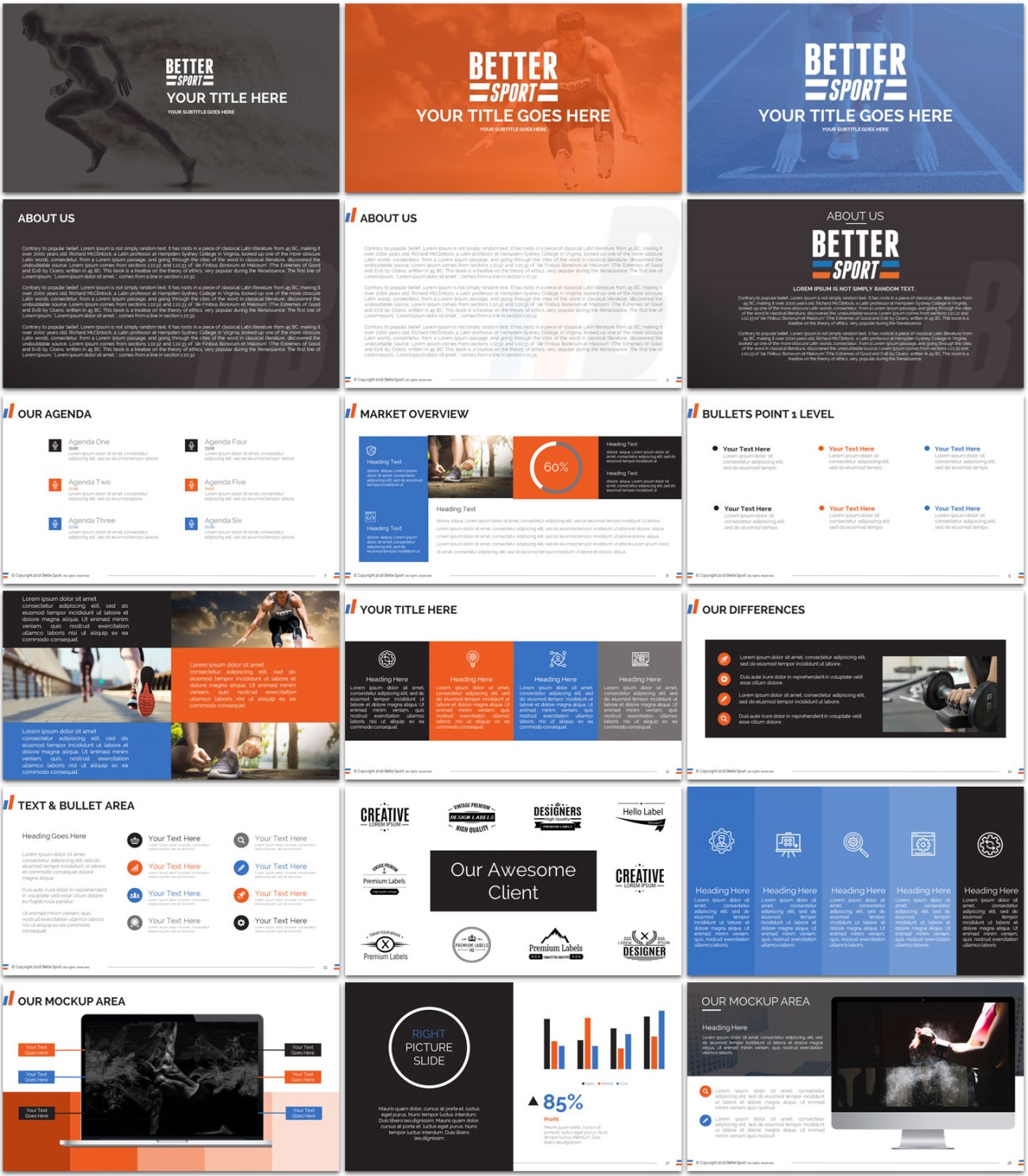 modern bold it company powerpoint design for better sport by