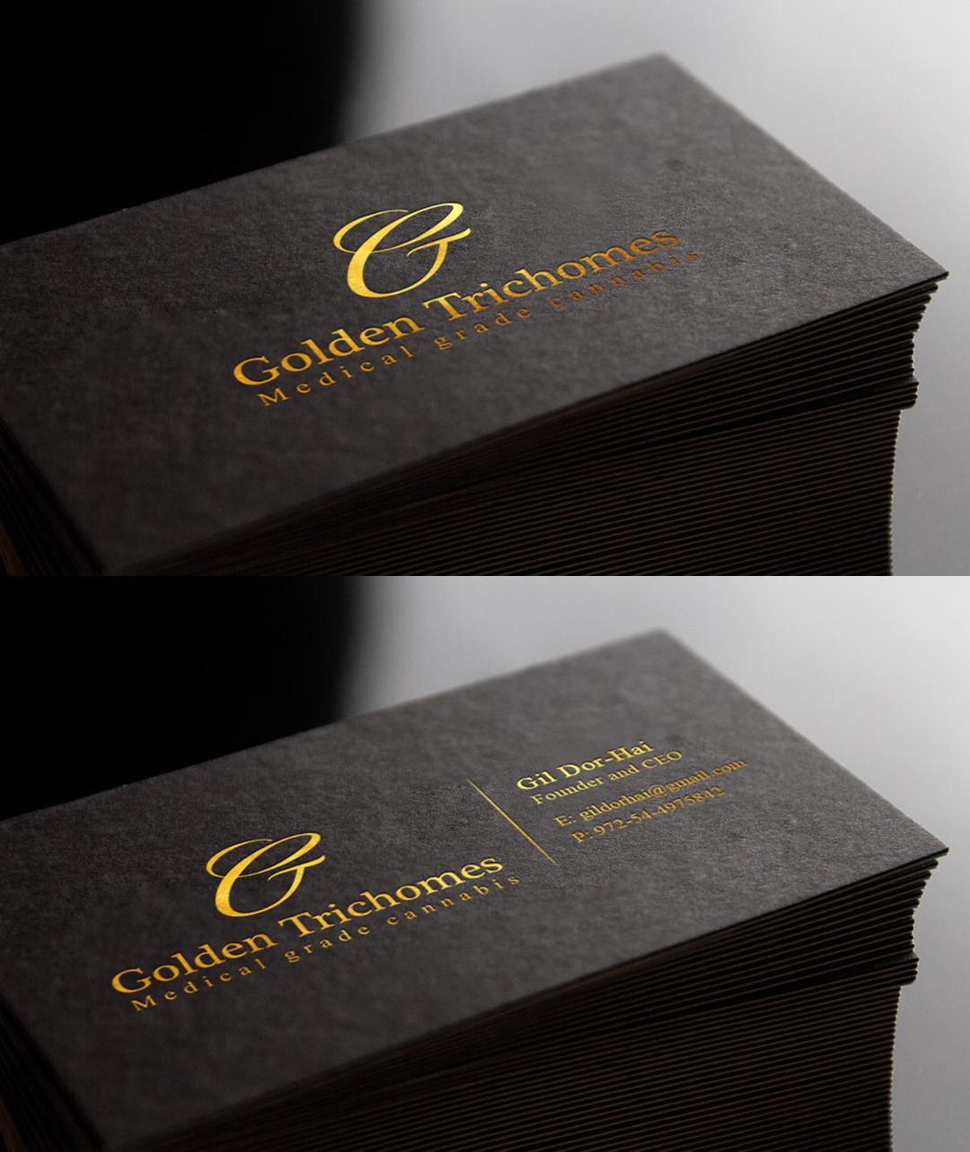 Design De Carte Visite Haut Gamme Serieux Industry Pour Golden Trichomes En Aux Israel