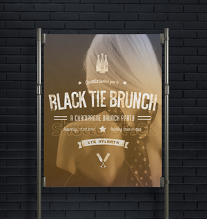 Flyer Design by lavie1blonde - Event Flyer for Brunch Party