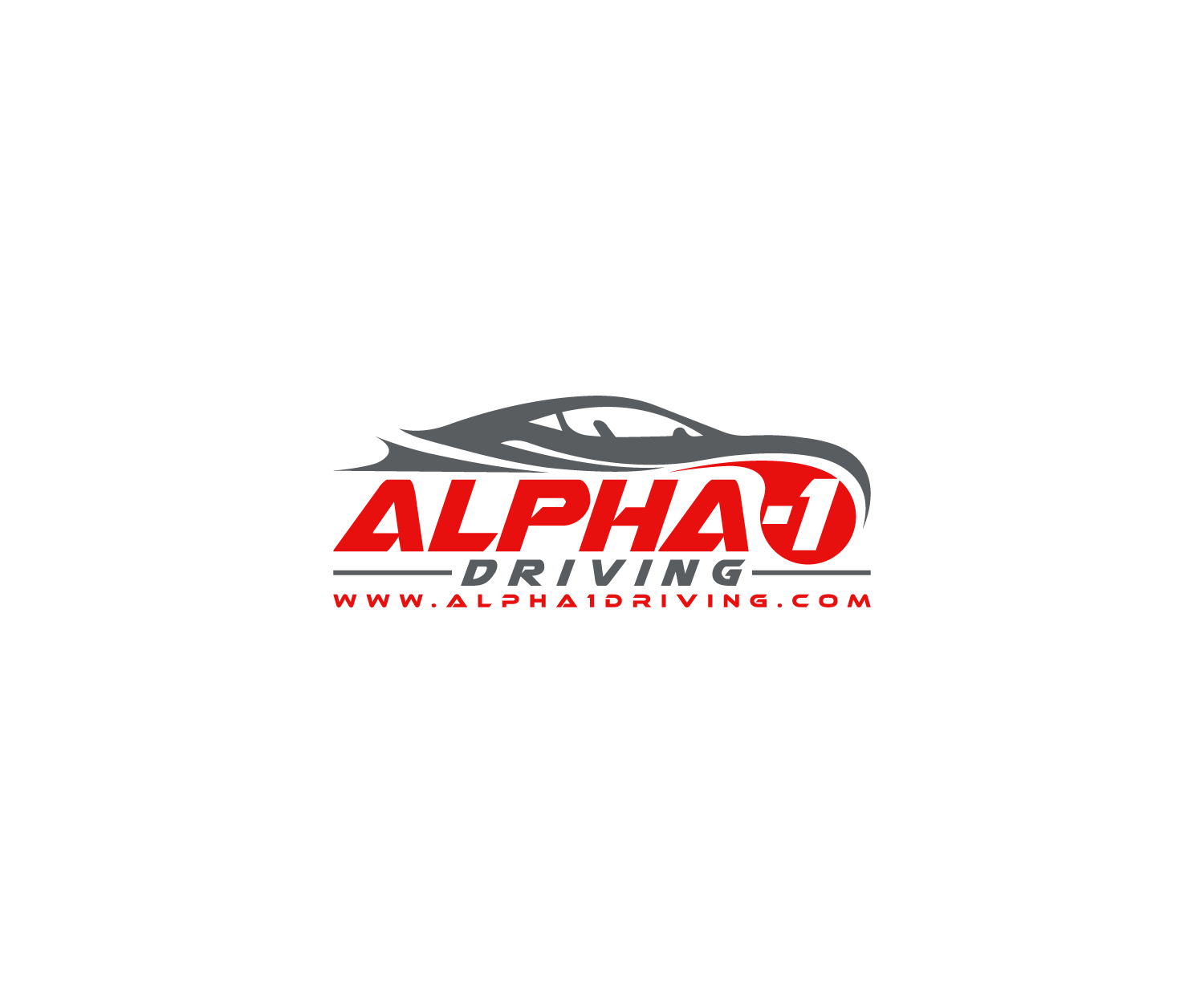 Grand Prix Driving School >> Bold Serious Driving School Logo Design For Alpha 1 Driving By