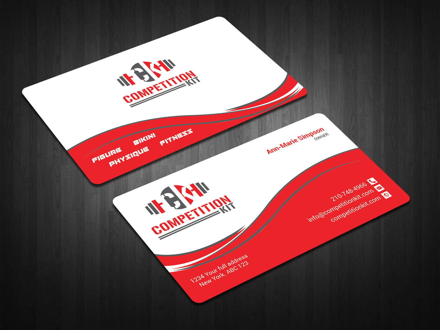 Modern, Professional, Fitness Business Card Design for Competition ...