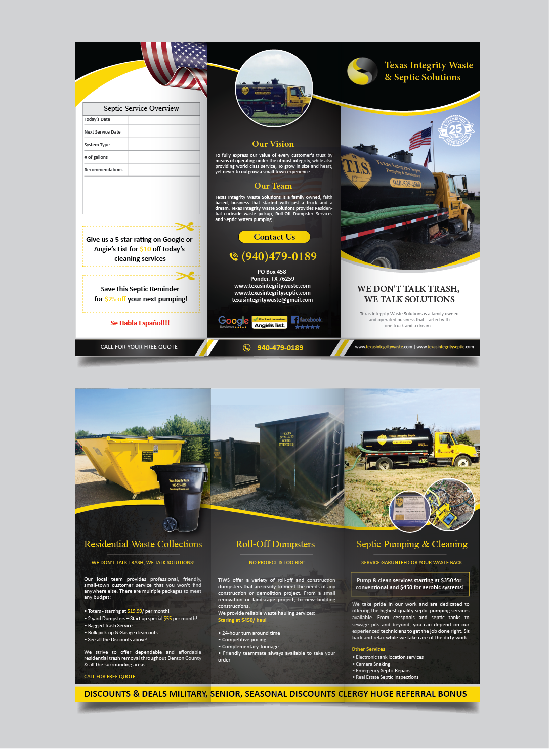 Elegant, Modern, Waste Management Brochure Design for North Texas