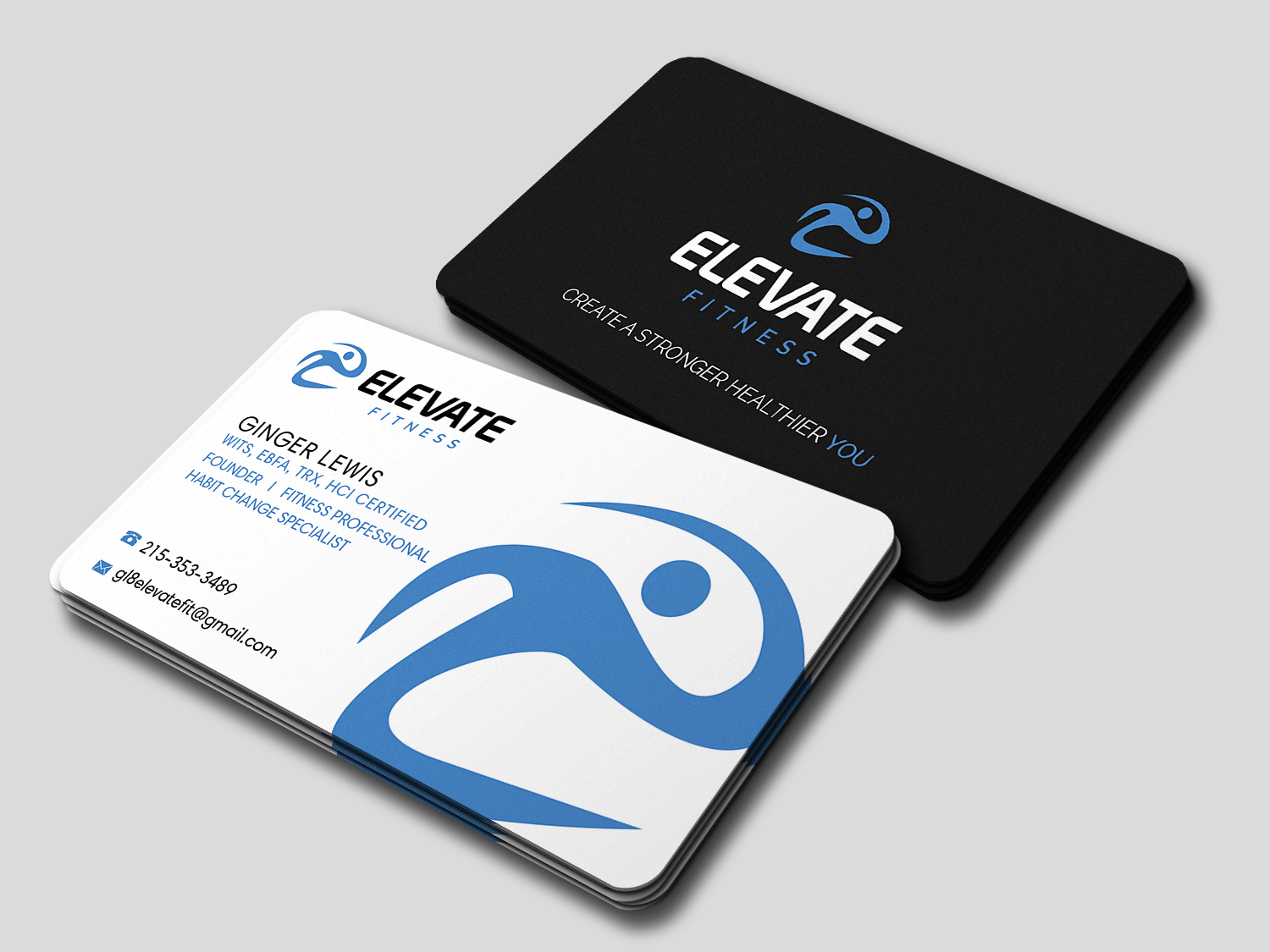 Bold, Serious, Fitness Business Card Design for Create A Stronger ...
