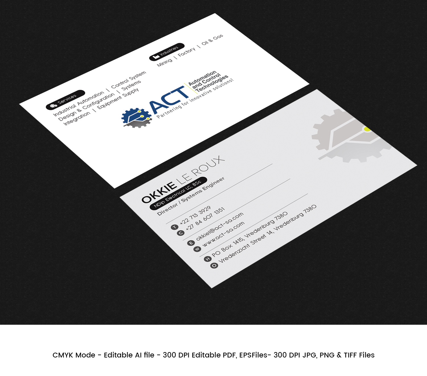 Professional conservative engineering consultant business card business card design by expert designer for automation and control technologies design 18243947 reheart Choice Image