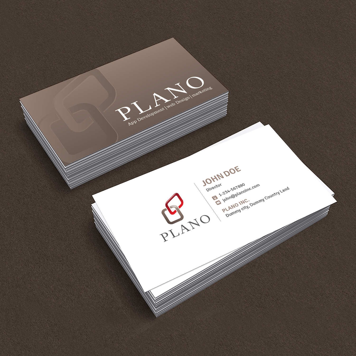 Bold Modern Design Agency Business Card Design For A