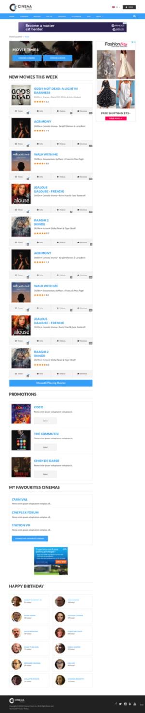 Movie Showtimes Website Needs An Updated New Look 64 Web