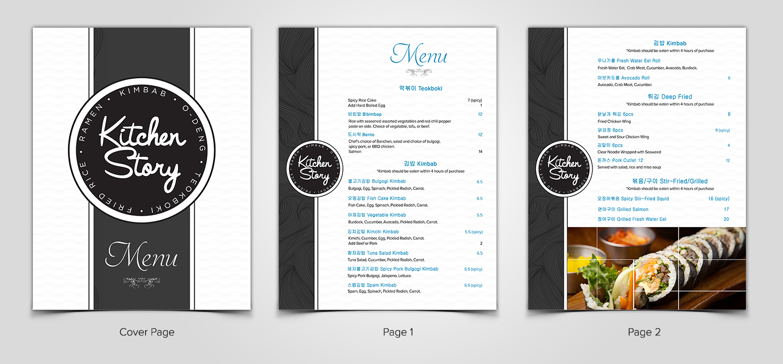 Elegant Playful Asian Restaurant Menu Design For A Company
