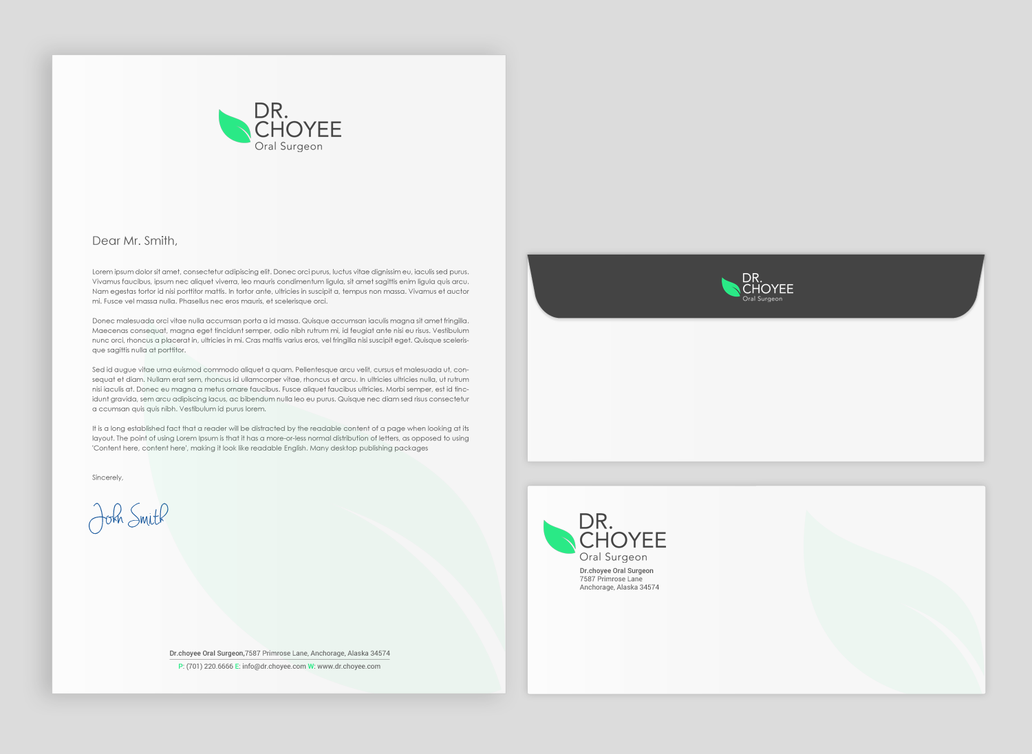 Serious Professional Office Stationery Design For Simon K Choyee Dds Inc In United States 18272496