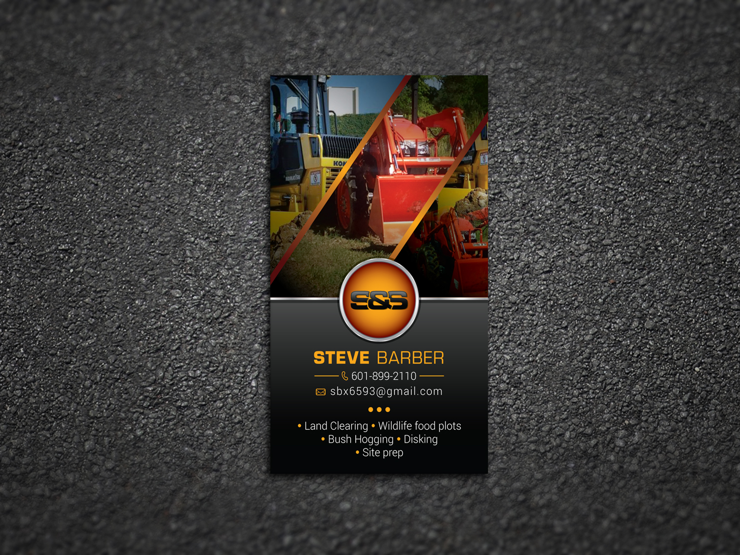 Masculine, Bold, Business Business Card Design for S&S Land ...