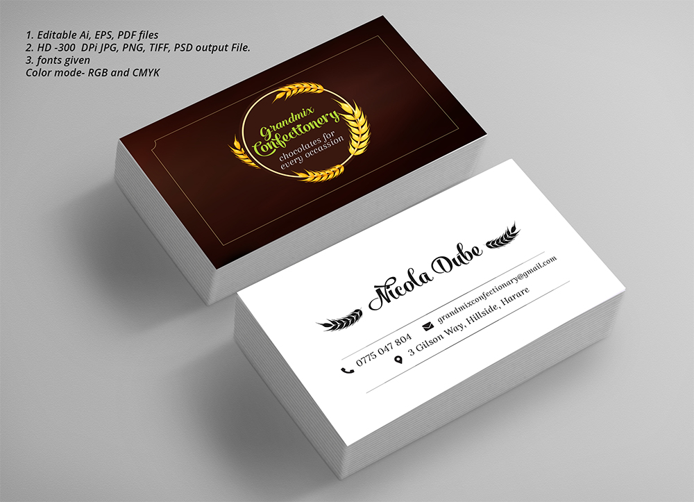 Bold serious food production business card design for a company by bold serious food production business card design for a company in zambia design 18271891 reheart Image collections