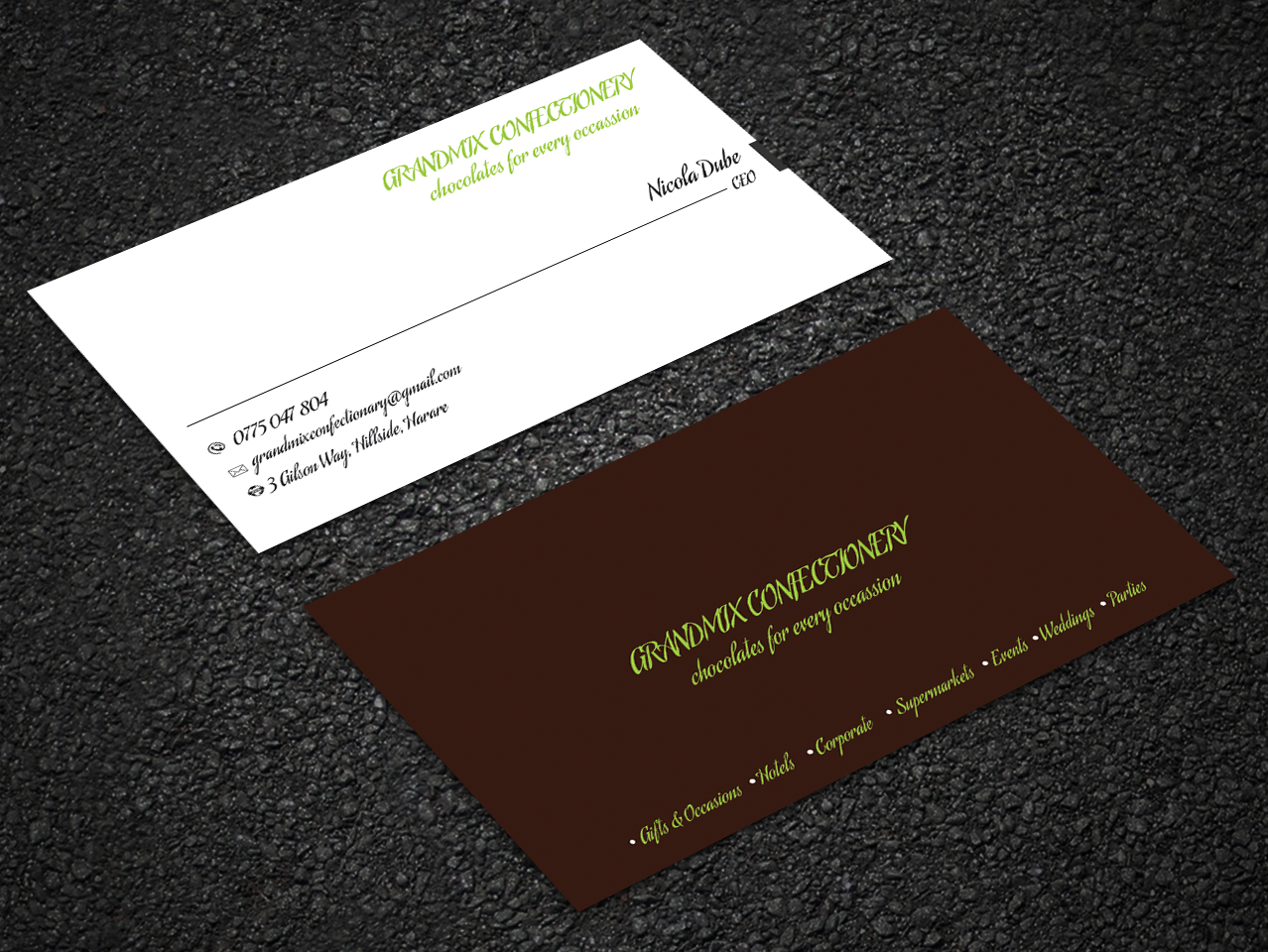 Bold serious food production business card design for a company by bold serious food production business card design for a company in zambia design 18283657 reheart Choice Image