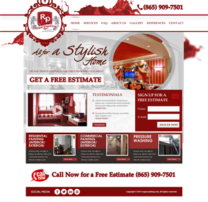 Bold Playful Home Improvement Web Designs For A Home
