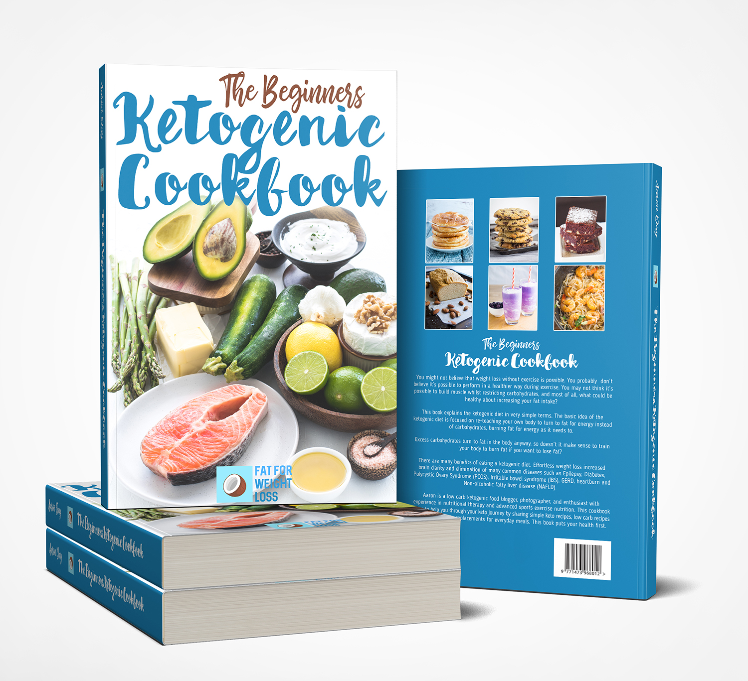 feminine upmarket cooking book cover design for fatforweightloss