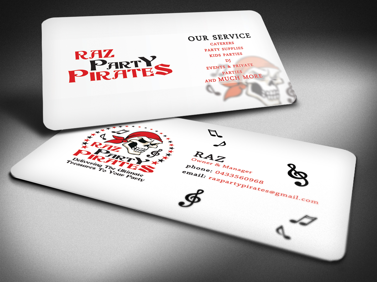 Party Planning Business Card Design