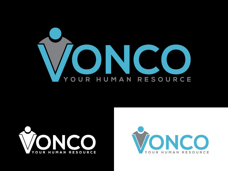 Bold, Playful, Human Resource Logo Design for VONCO- Your