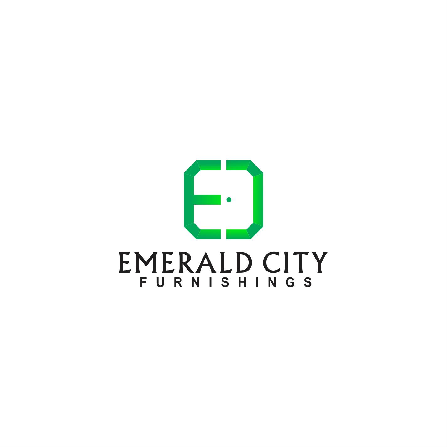 Elegant Playful Home Furniture Logo Design For Emerald