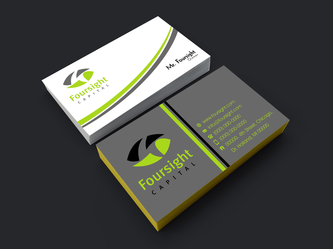 Upmarket modern financial service business card design for a business card design by ufjari for this project design 18341941 colourmoves