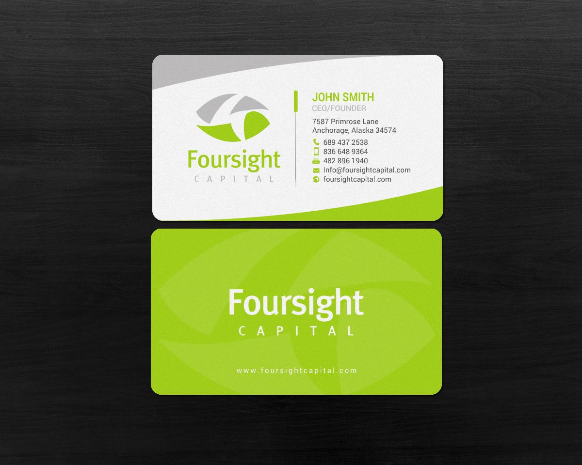Gehobenes Modern Financial Service Visitenkarten Design