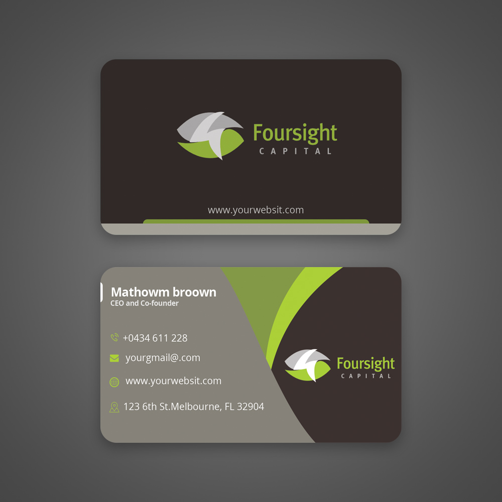 Upmarket modern financial service business card design for a business card design by hasan uzzal for this project design 18323768 colourmoves