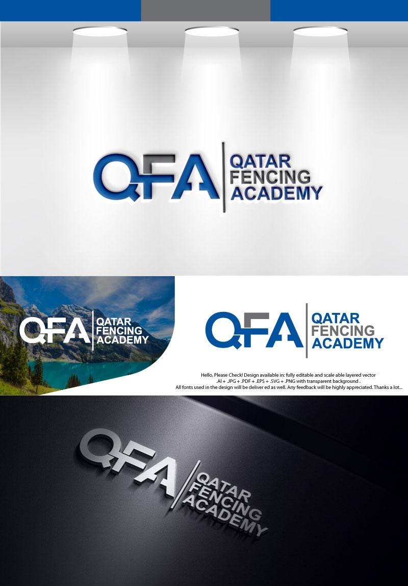 Elegant, Playful, Fencing Logo Design for Qatar Fencing
