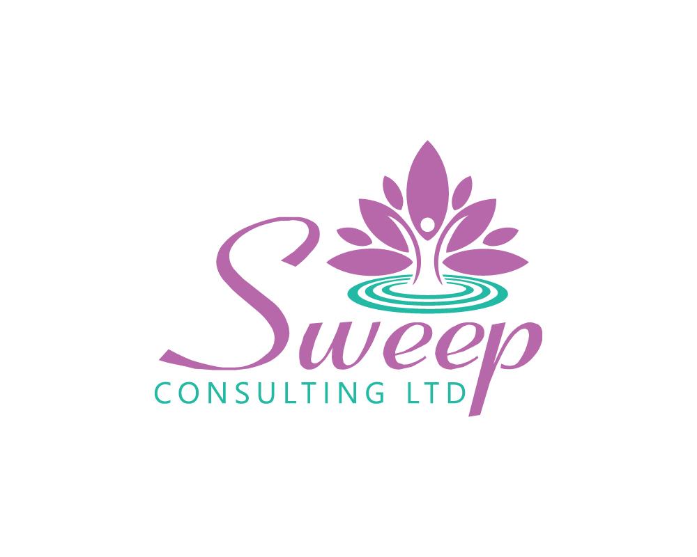 modern feminine health and wellness logo design for sweep