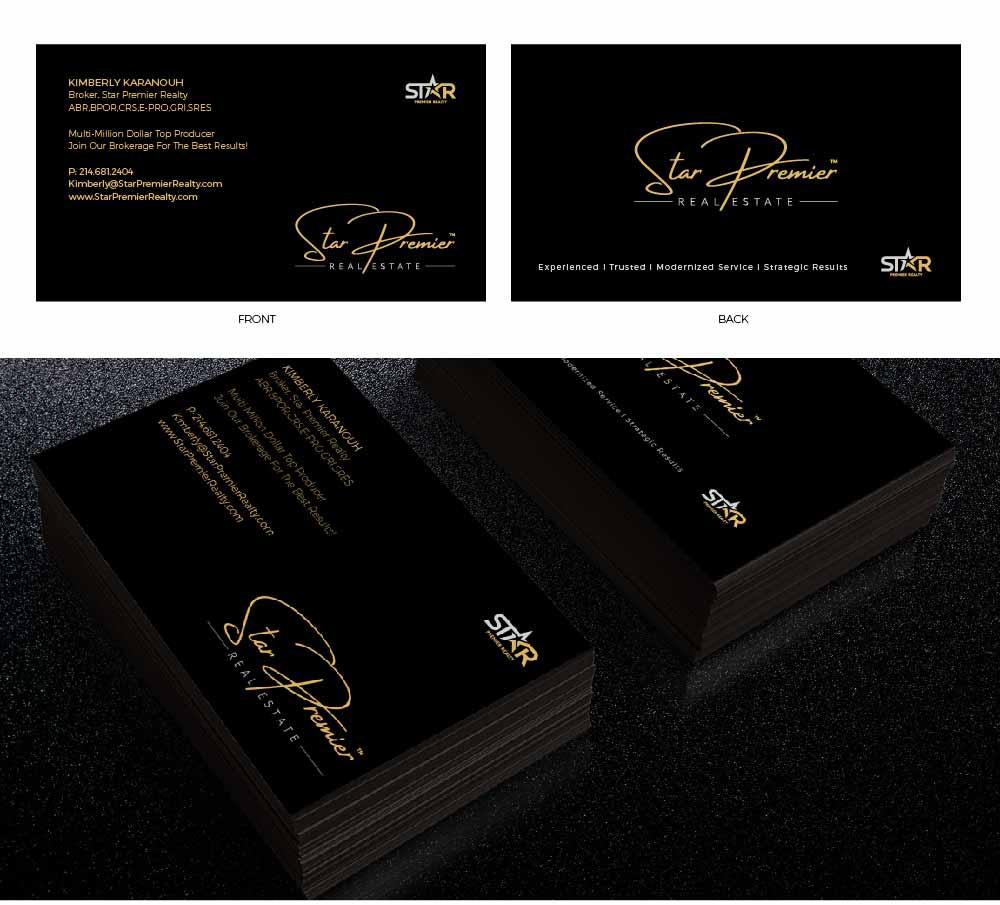 Design De Carte Visite Haut Gamme Srieux Real Estate Pour Star Premier Realty En Aux United States