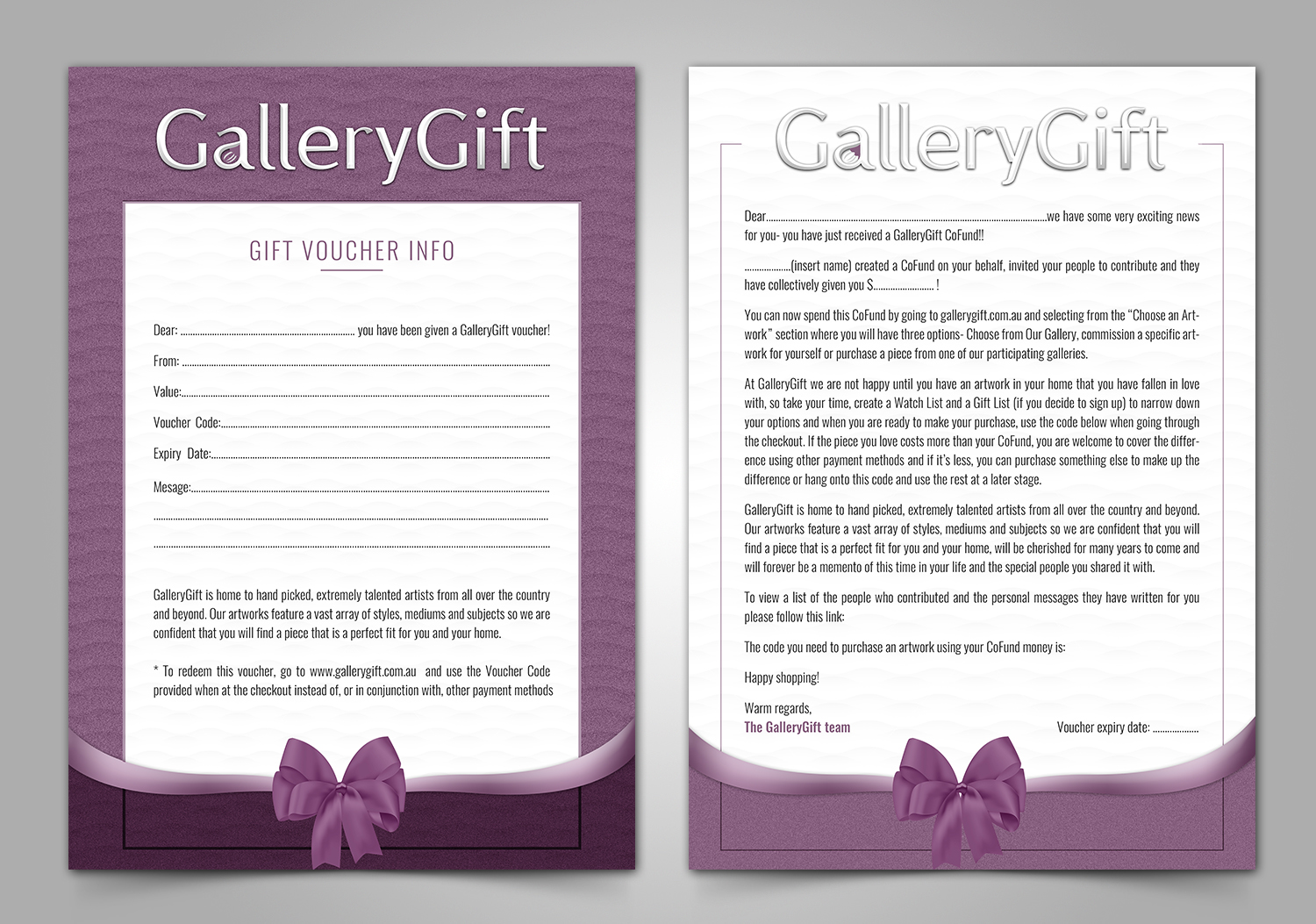 Elegant, Upmarket, Art Gallery Print Design for a Company by