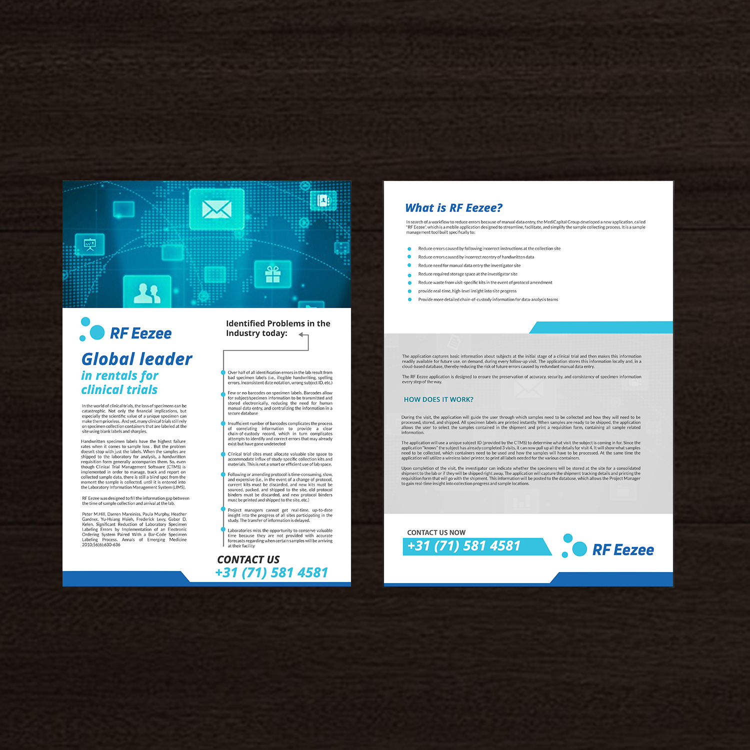 serious professional medical and science flyer design for a