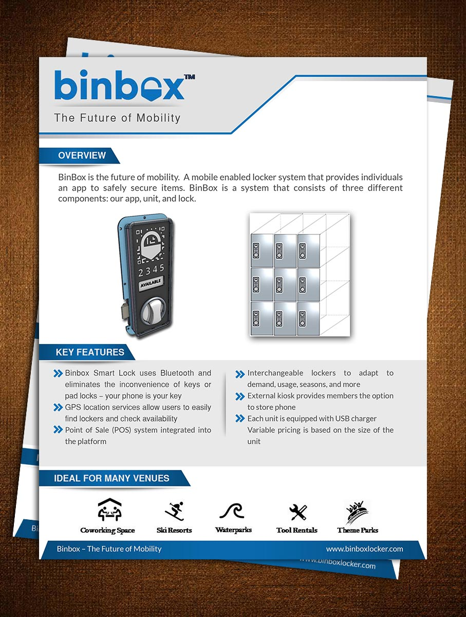 professional playful flyer design for binbox inc by crazy creation