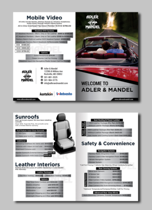 masculine elegant automotive brochure design for a company by sd