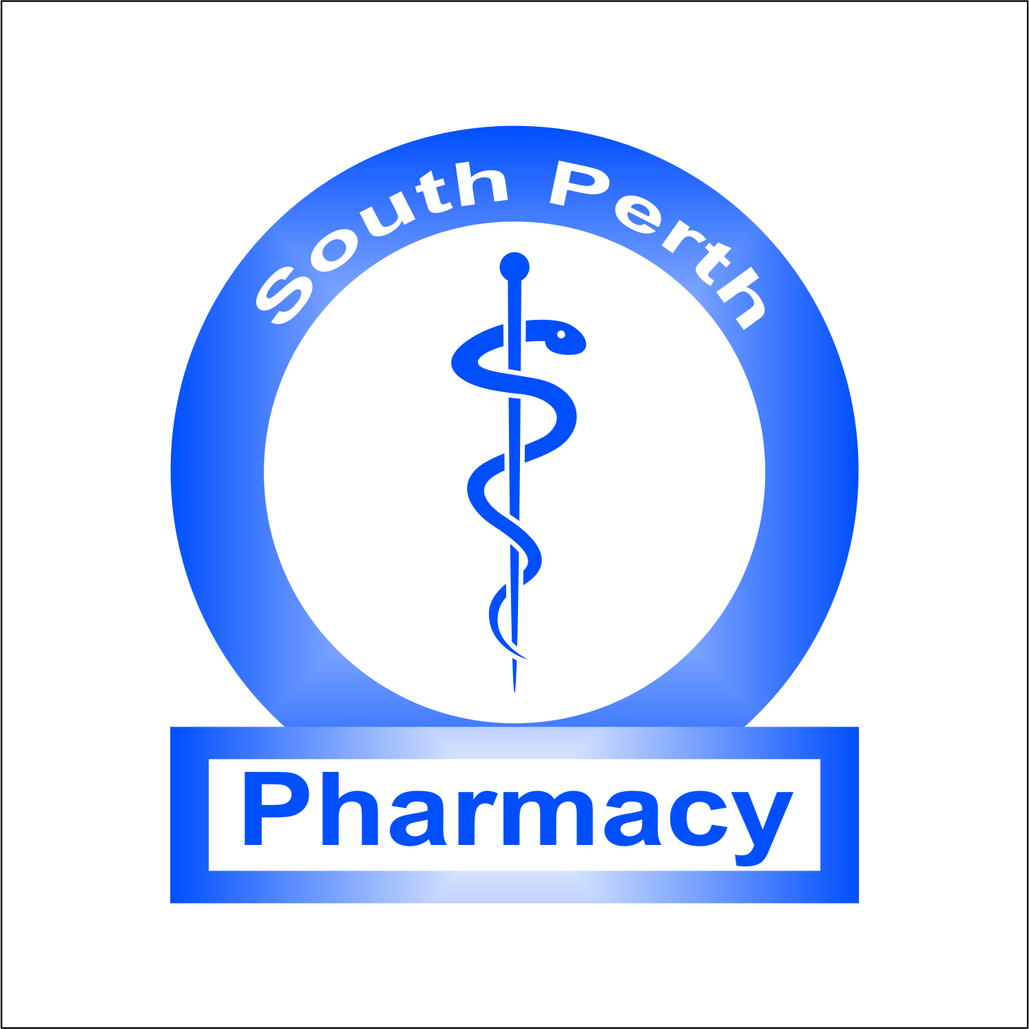 Traditional Economical Pharmacy Logo Design For South