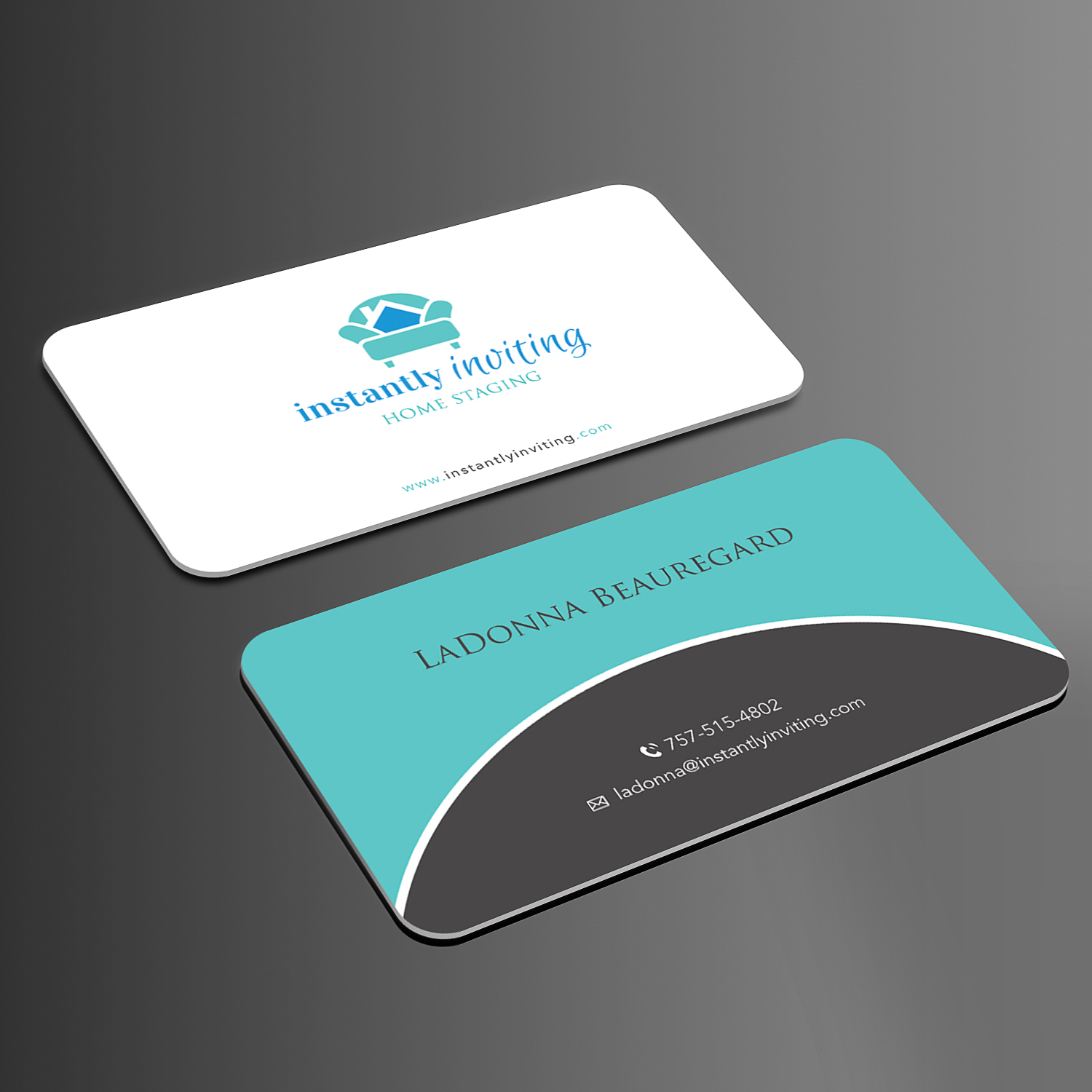 Business Card Design By Sandymanme For Instantly Inviting Home Staging Solutions
