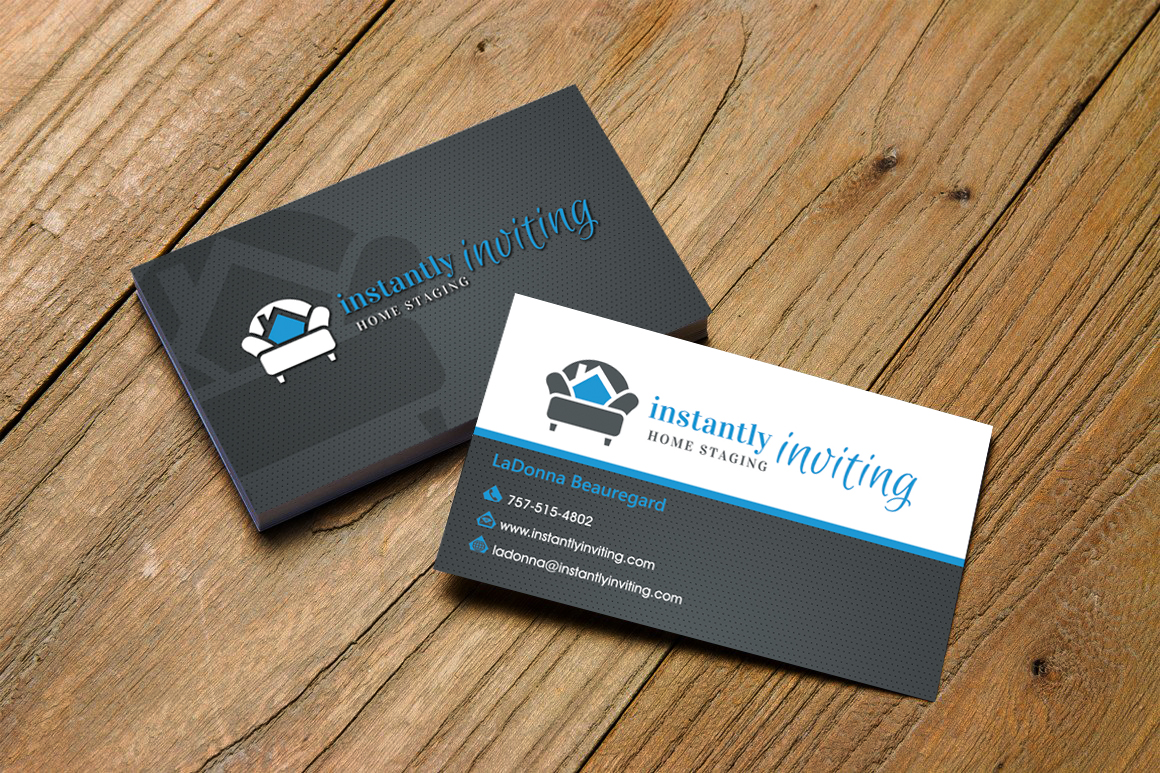 Business Card Design By Hardcore For Instantly Inviting Home Staging Solutions