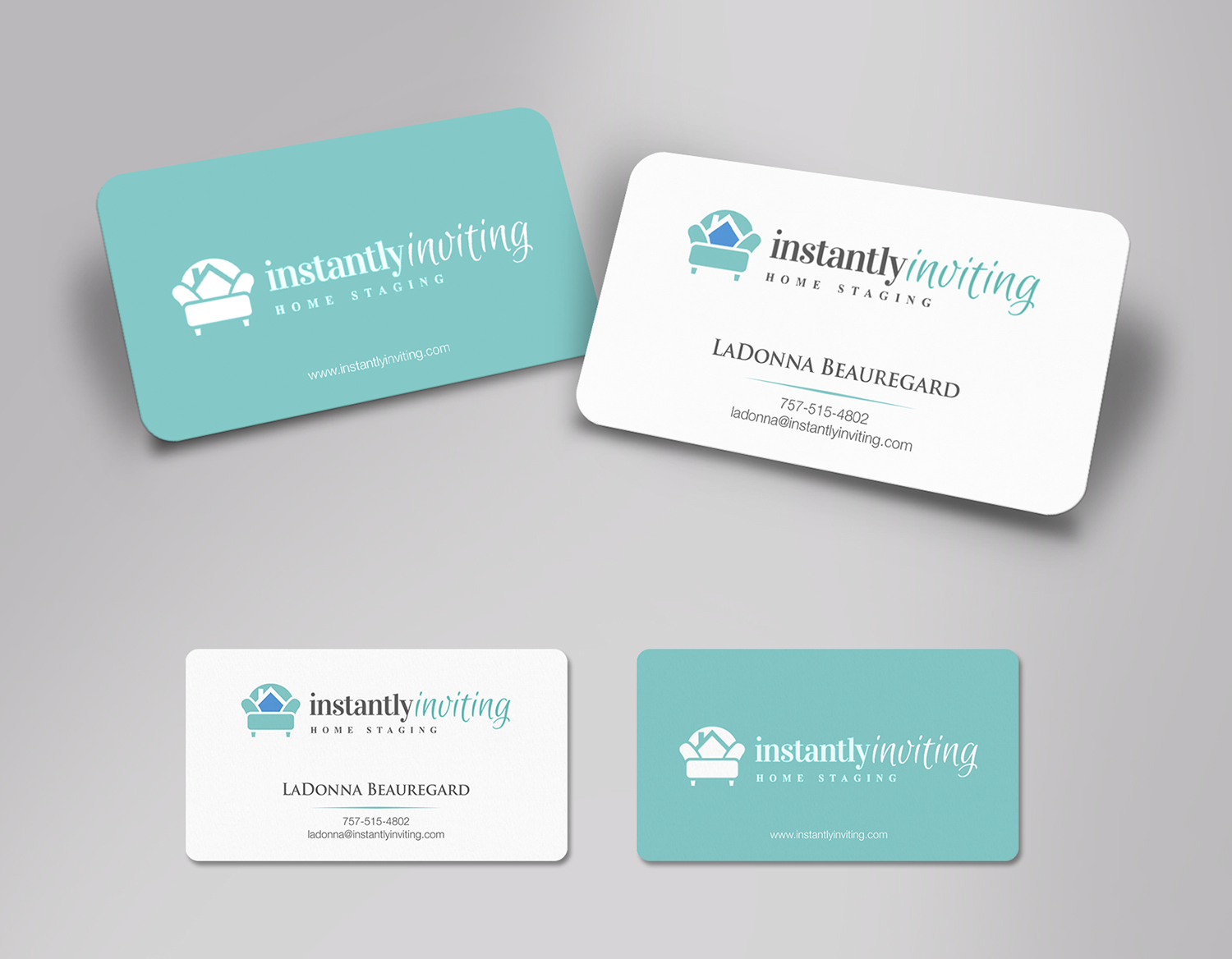 Modern, Feminine Business Card Design for Instantly Inviting Home ...