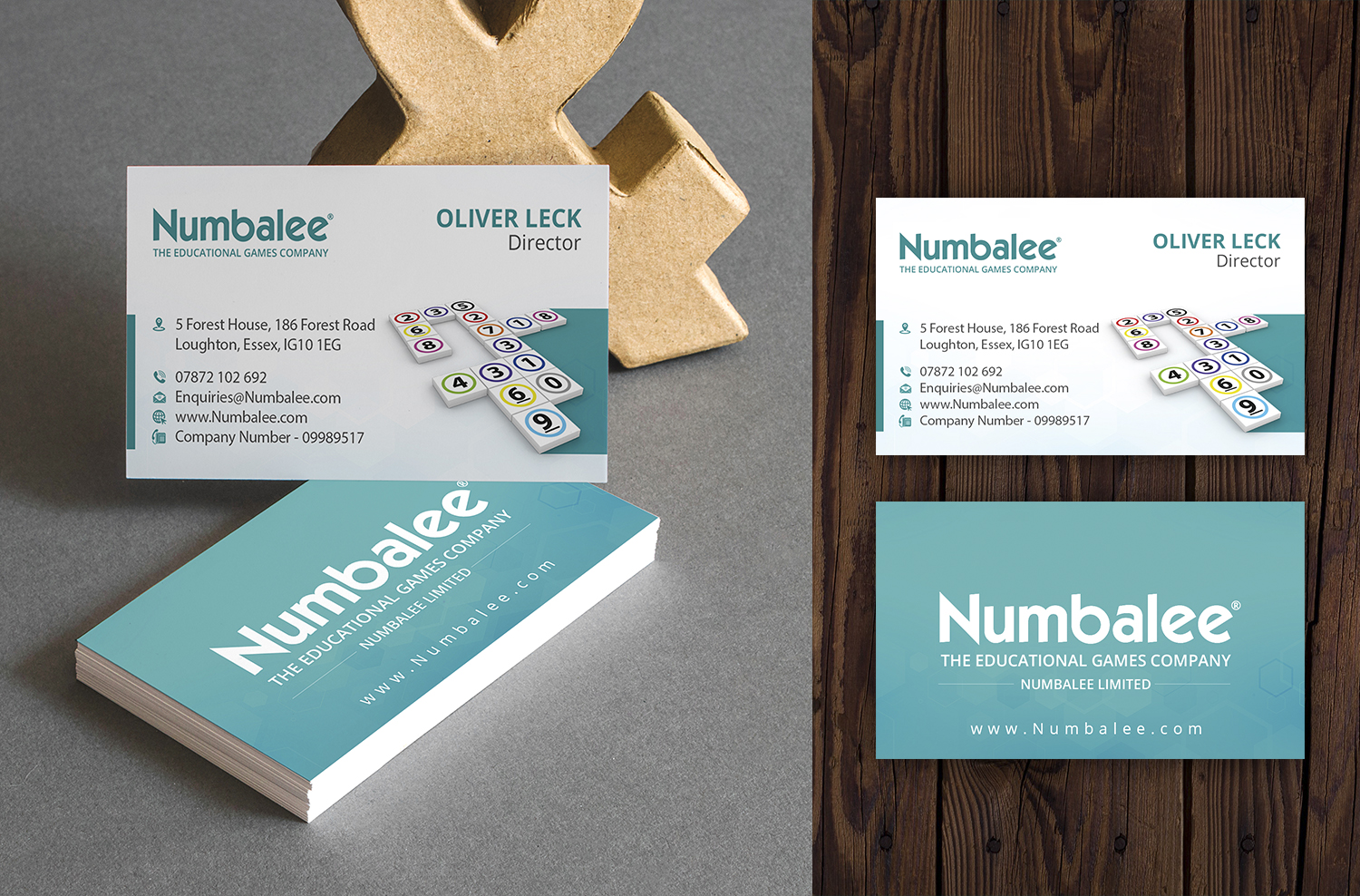 upmarket modern games business card design for a company by