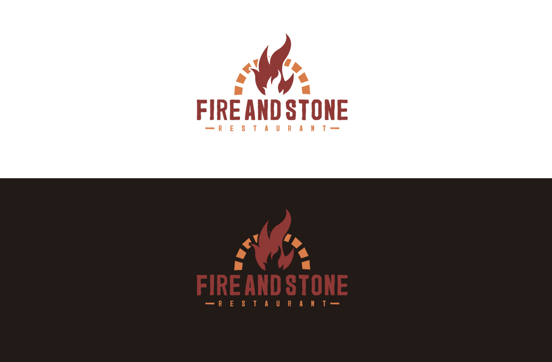 Bold Traditional Restaurant Logo Design For Fire And Stone By Gldesigns Design 18469883