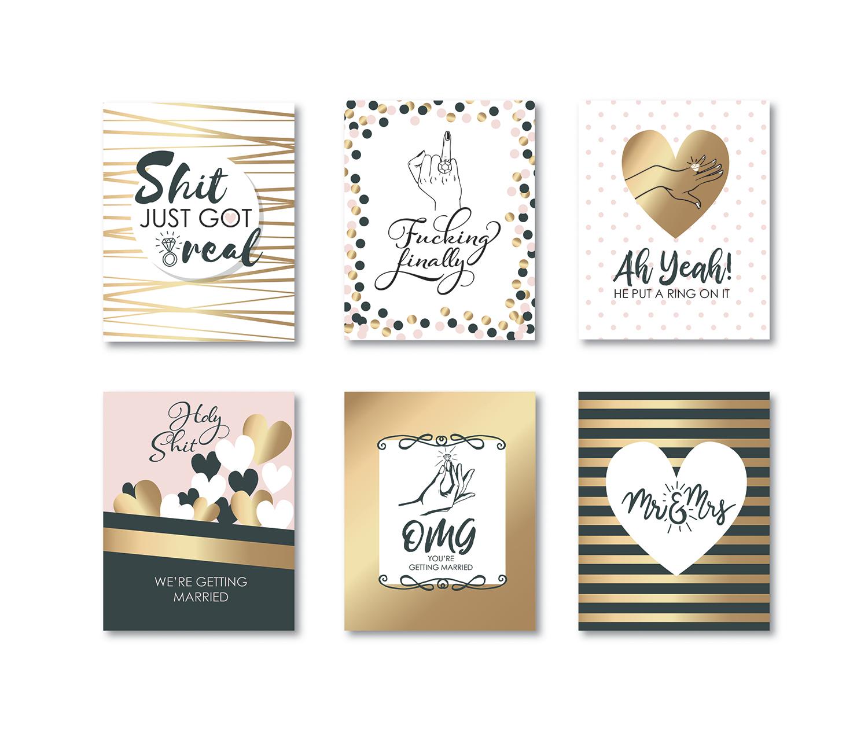 playful modern wedding label design for natural sister salon by