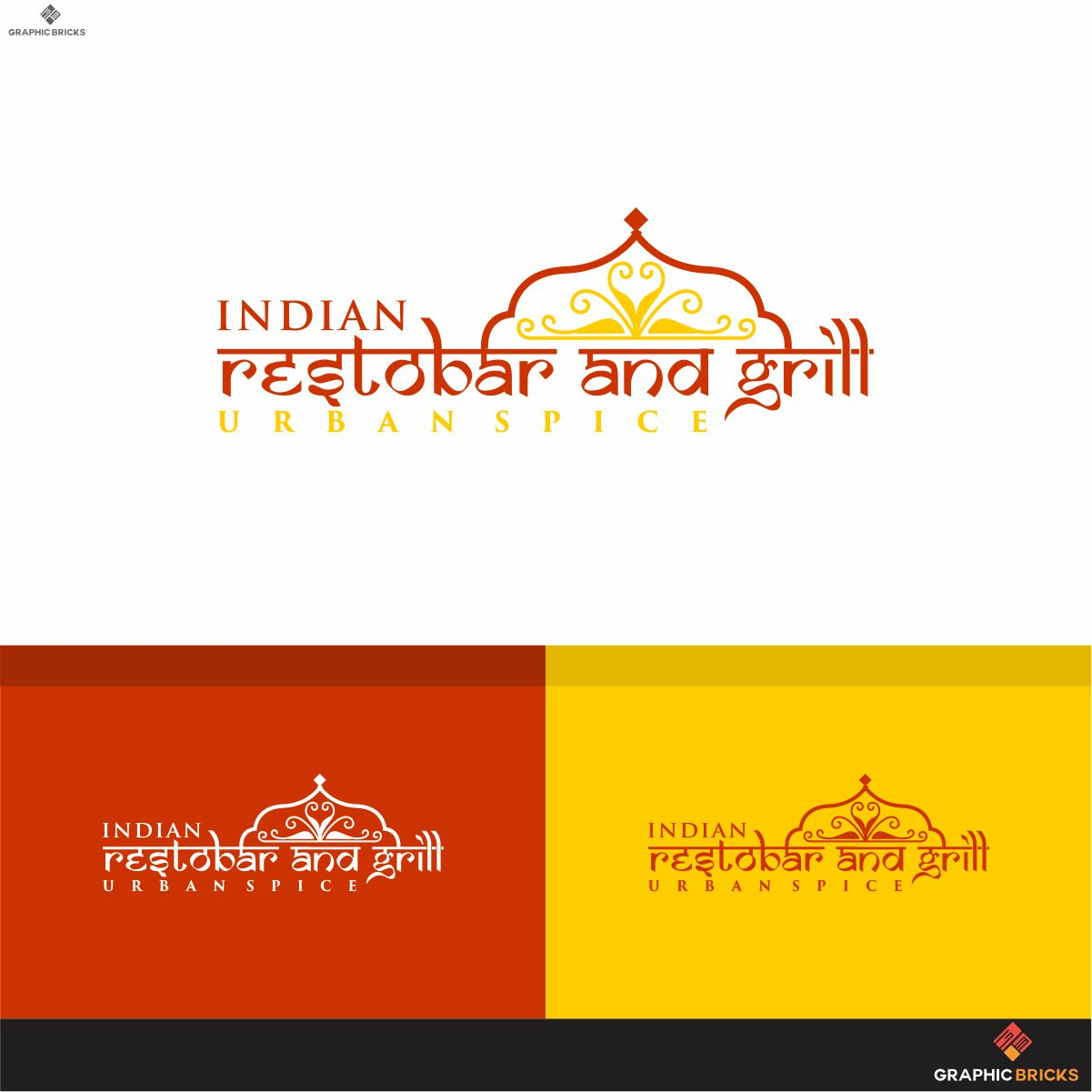 Bold Serious Indian Restaurant Logo Design For Urban Spice Tag Line With Indian Restobar And Grill By Logo No 1 Design 18401540