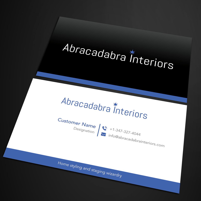 Elegant modern real estate business card design for abracadabra business card design by sandymanme for abracadabra interiors design 18392260 reheart Images