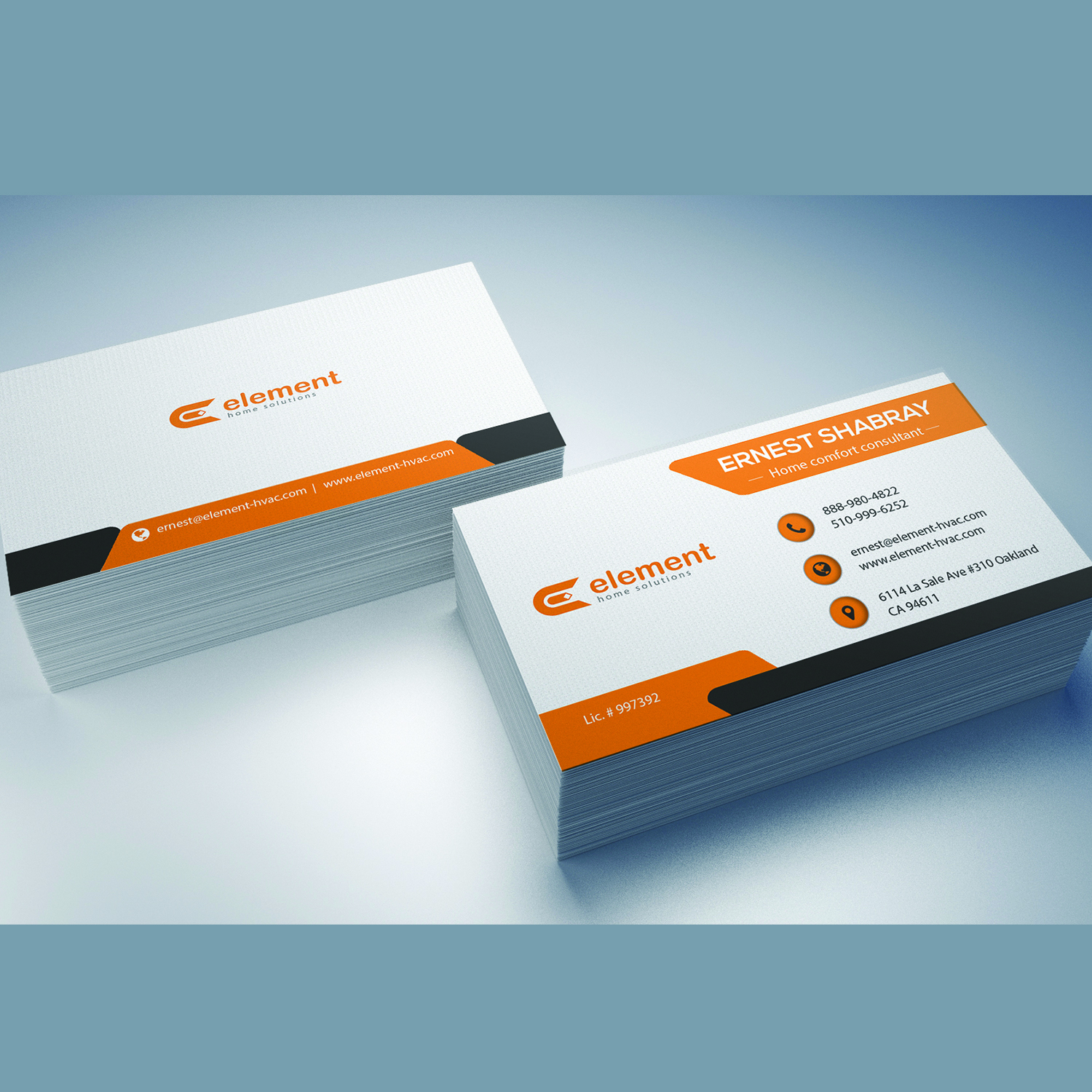 Bold, Playful, Hvac Business Card Design for a Company by Mishuy ...
