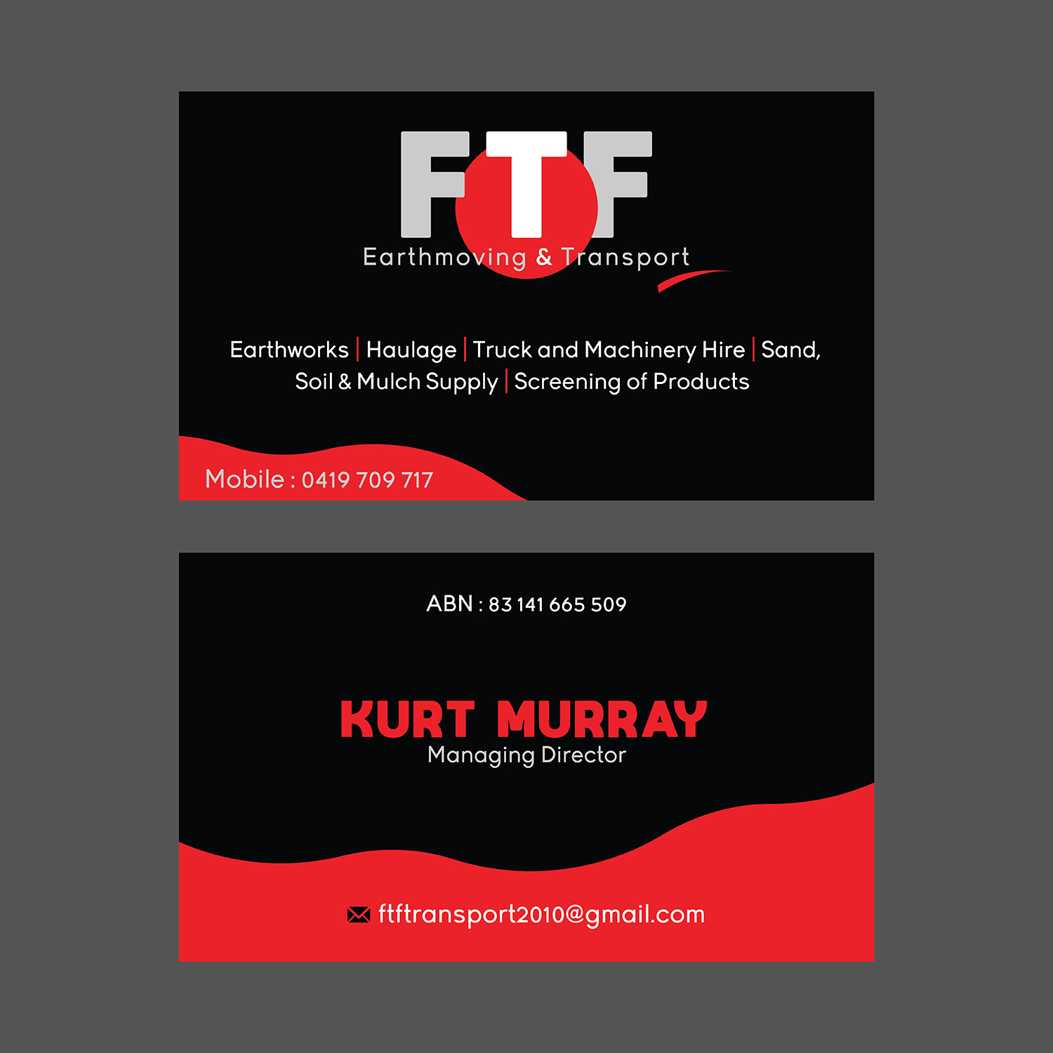 Bold, Masculine Business Card Design For Create Health & Fitness