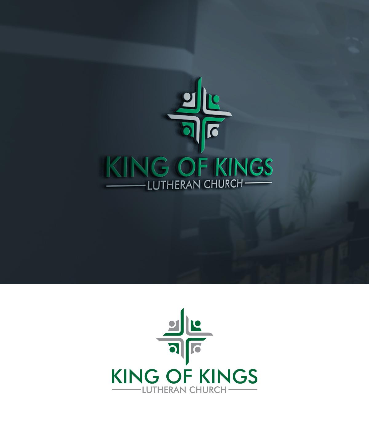 Bold, Modern, Church Logo Design for King of Kings Lutheran