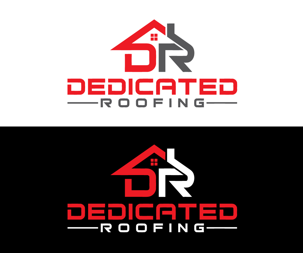 Bold Modern Logo Design For Dedicated Roofing By Quick