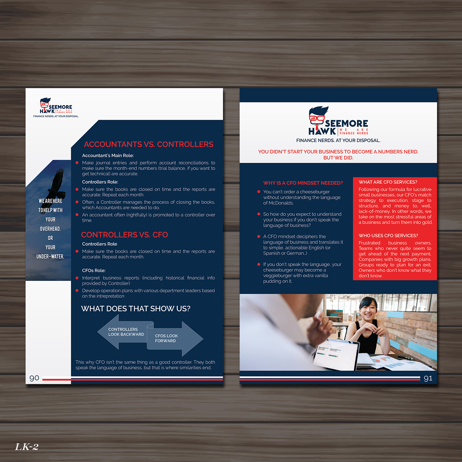 professional bold small business brochure design for cash flywheel