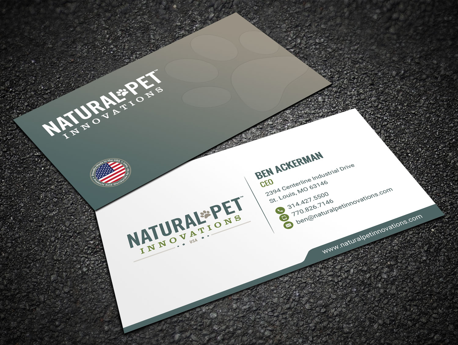 Masculine, Serious, Pet Business Card Design for Natural Pet ...