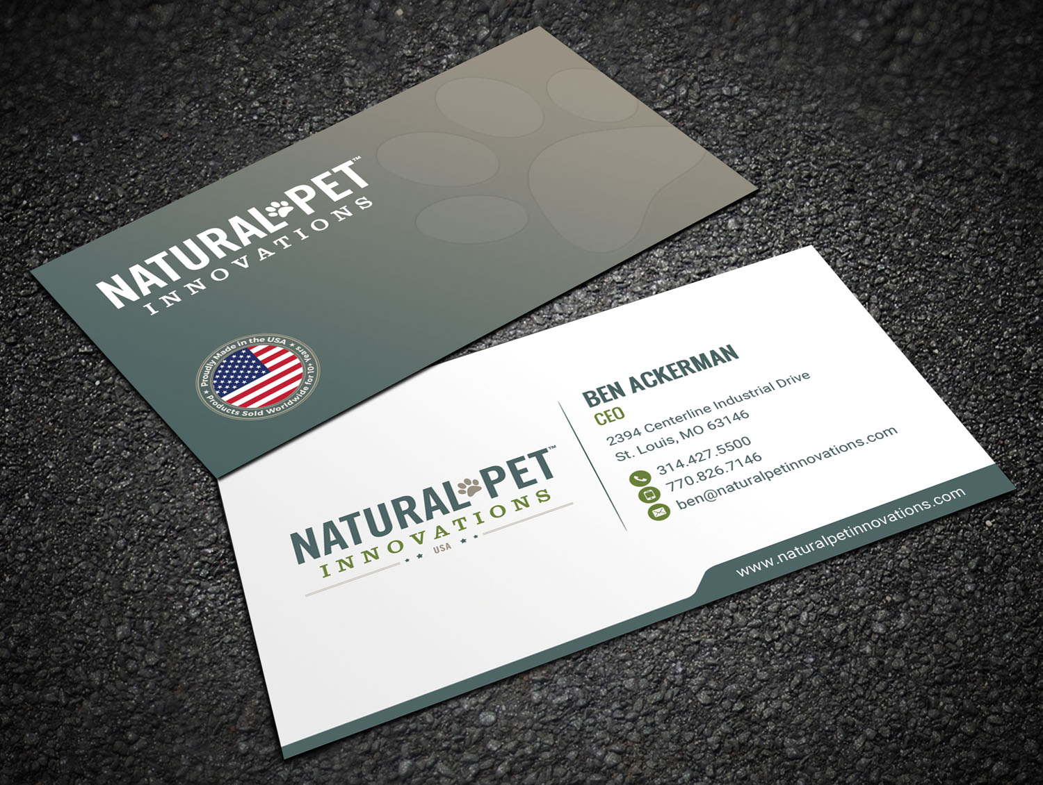 Masculine serious pet business card design for natural pet business card design by sandaruwan for natural pet innovations design 18551192 colourmoves